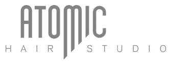 atomic ladner BC hair studio logo